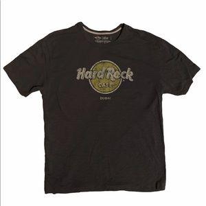Grey Dubai Hard Rock Cafe T-Shirt